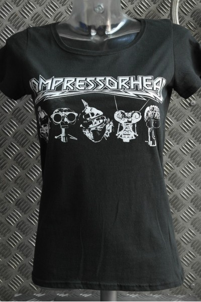 "COMPRESSORHEAD T-SHIRT ""Heads neu"" WOMEN"